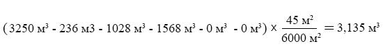 Формула №11 - расчет холодного водоснабжения ОДН