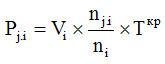 Формула № 7 - расчет размера платы за холодное или горячее водоснабжение для комнаты, являющейся частью коммунальной квартиры